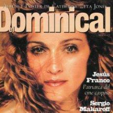 Coleccionismo de Revistas y Periódicos: EL DOMINICAL - MADONNA 40 AÑOS - POSTER CATHERINE ZETA JONES - VER SUMARIO - AGOSTO 1998. Lote 151551514