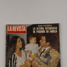 Coleccionismo de Revistas y Periódicos: LA REVISTA DEL MUNDO NUMERO 1 LA MUERTE DE PAQUIRRI. Lote 151627778