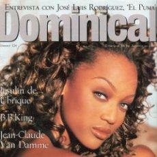 Coleccionismo de Revistas y Periódicos: DOMINICAL - JESULIN DE UBRIQUE - EL PUMA-JEAN-CLAUDE VAN DAMME- B.B. KING -VER SUMARIO - AGOSTO 1996. Lote 151704754