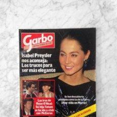 Coleccionismo de Revistas y Periódicos: GARBO - 1985 - ISABEL PREYSLER, JULIAN LENNON, DUQUESA DE ALBA, ANA TORROJA, MECANO, CANTINFLAS. Lote 151722626