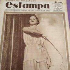 Coleccionismo de Revistas y Periódicos: ESTAMPA 1931 JOSE DE SILVA BRAVO FUGADO DE LAS ALAMBRADA CABO VERDE EL CIRCO MAS GRANDE DEL MUNDO . Lote 151999674