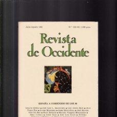 Coleccionismo de Revistas y Periódicos: REVISTA DE OCCIDENTE - JULIO-AGOSTO 1991. Lote 152348454