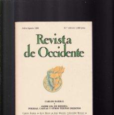 Coleccionismo de Revistas y Periódicos: REVISTA DE OCCIDENTE - JULIO-AGOSTO 1990. Lote 152348682