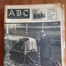 Coleccionismo de Revistas y Periódicos: ABC 14-06-1975-FALLECE FERNANDO HERRERO TEJEDOR-CONCHITA MARQUEZ PIQUER-PUBLICIDAD PELICULAS ........ Lote 152352334