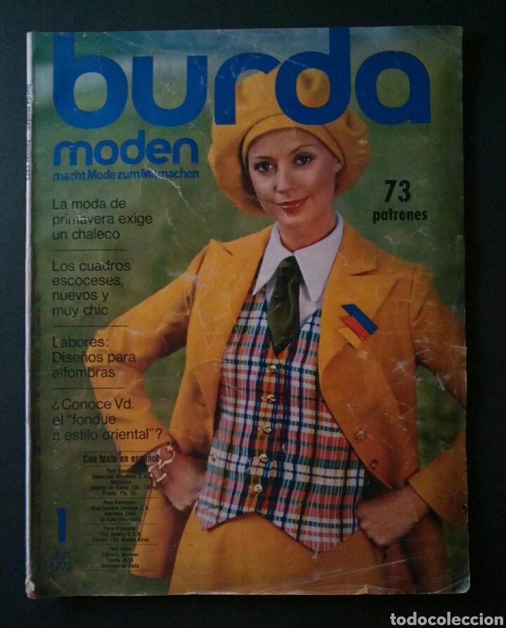 CTC - AÑO 1972 - BURDA MODEM 1 ENERO 1972 - CON TEXTO EN ESPAÑOL - 75 PATRONES. (Coleccionismo - Revistas y Periódicos Modernos (a partir de 1.940) - Otros)