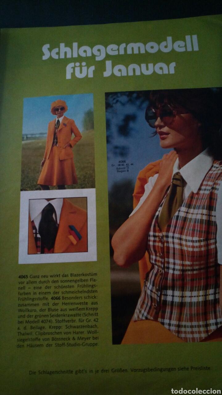 Coleccionismo de Revistas y Periódicos: CTC - AÑO 1972 - BURDA MODEM 1 ENERO 1972 - CON TEXTO EN ESPAÑOL - 75 PATRONES. - Foto 3 - 152374994
