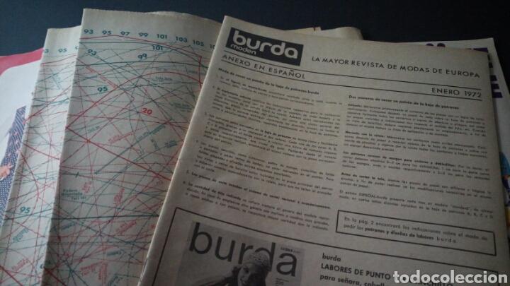 Coleccionismo de Revistas y Periódicos: CTC - AÑO 1972 - BURDA MODEM 1 ENERO 1972 - CON TEXTO EN ESPAÑOL - 75 PATRONES. - Foto 7 - 152374994