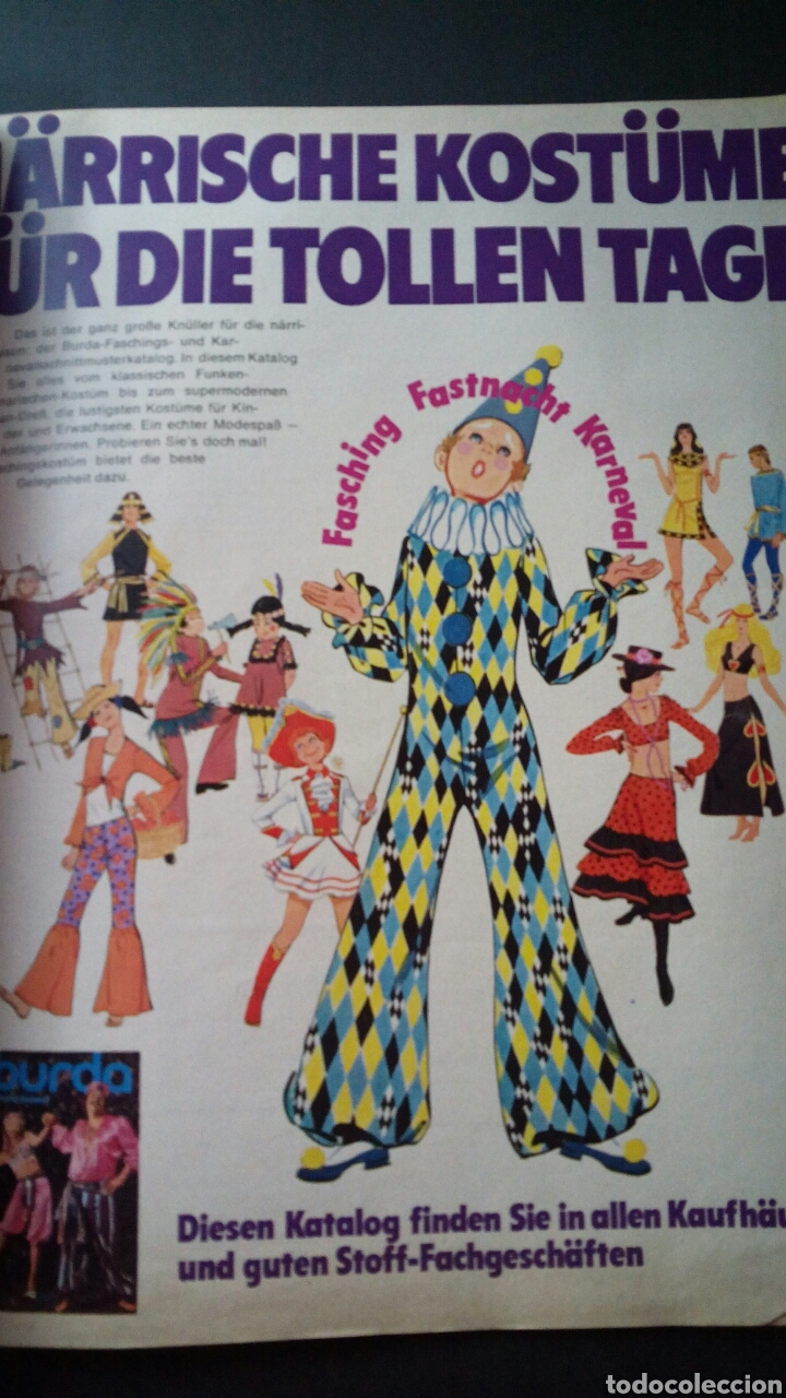Coleccionismo de Revistas y Periódicos: CTC - AÑO 1972 - BURDA MODEM 1 ENERO 1972 - CON TEXTO EN ESPAÑOL - 75 PATRONES. - Foto 8 - 152374994