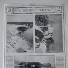 Coleccionismo de Revistas y Periódicos: HOJA REVISTA ORIGINAL AÑOS 10. EL INVIERNO EN NORUEGA. Lote 152423242