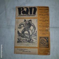 Coleccionismo de Revistas y Periódicos: PAN ( SINTESIS DE TODA IDEA MUNDIAL) - 1937. Lote 152567122