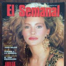 Coleccionismo de Revistas y Periódicos: REVISTA SUPLEMENTO SEMANAL. MARZO 1994. JULIA ROBERTS. Lote 152585586