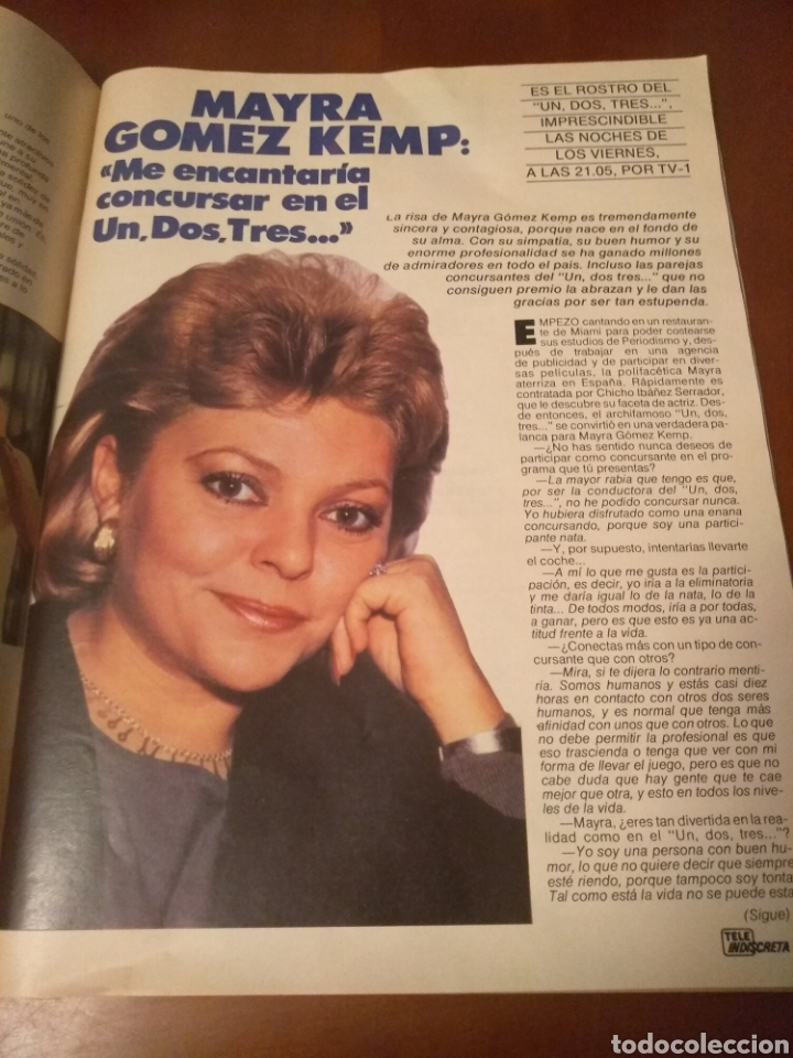 Coleccionismo de Revistas y Periódicos: Revista Tele Indiscreta n'7 sere V (completa) - Foto 5 - 181451481