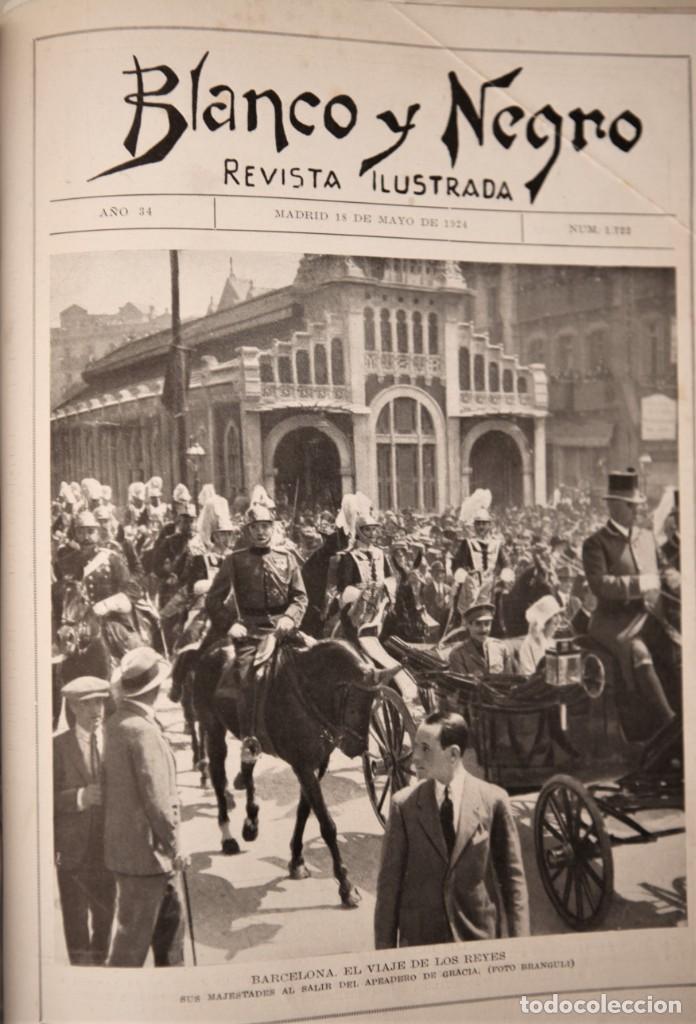 Coleccionismo de Revistas y Periódicos: Blanco y Negro Revista Ilustrada, 2 volúmenes, año 1924 completo - Foto 2 - 152632226