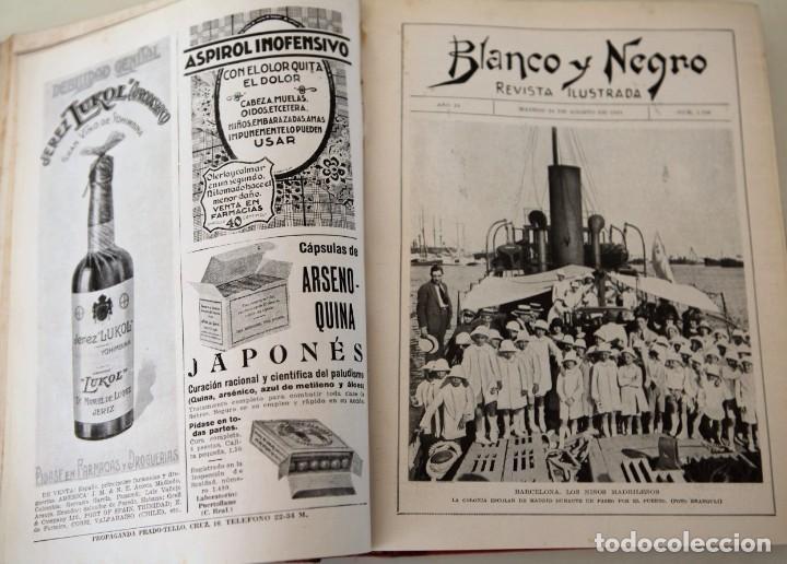 Coleccionismo de Revistas y Periódicos: Blanco y Negro Revista Ilustrada, 2 volúmenes, año 1924 completo - Foto 11 - 152632226