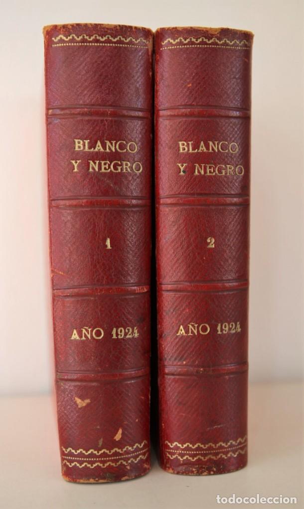 Coleccionismo de Revistas y Periódicos: Blanco y Negro Revista Ilustrada, 2 volúmenes, año 1924 completo - Foto 19 - 152632226