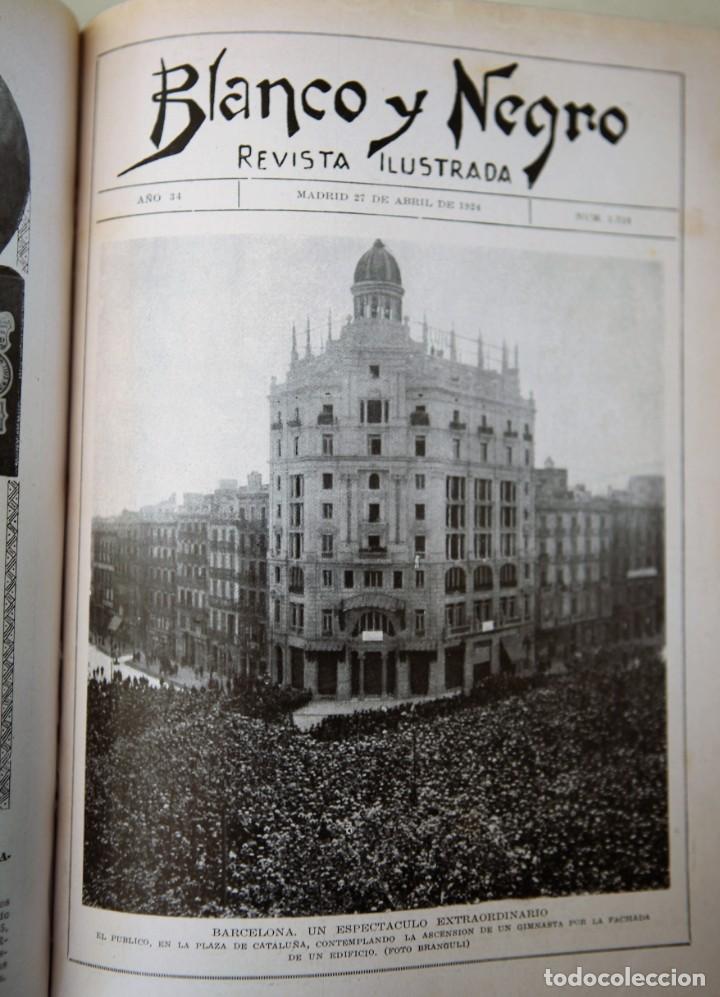 Coleccionismo de Revistas y Periódicos: Blanco y Negro Revista Ilustrada, 2 volúmenes, año 1924 completo - Foto 27 - 152632226