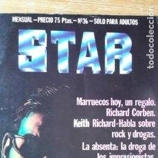 Coleccionismo de Revistas y Periódicos: REVISTA STAR NÚM. 36. 1976. KEITH RICHARDS. ROLLING STONES. RAMONCIN. ABSENTA.. Lote 152652126