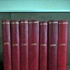 Coleccionismo de Revistas y Periódicos: LOTE DE REVISTAS ALGO. ALGO 2000. EDITADAS DEL AÑO 1984 AL 1990. ENCUADERNADAS EN TAPA DURA. . Lote 152736974