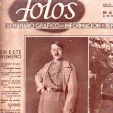 Coleccionismo de Revistas y Periódicos: VEINTE NÚMEROS REVISTA FOTOS AÑOS 1939-40 - FASCISMO, GUERRA CIVIL, 2ª GUERRA MUNDIAL -CON DEFECTOS. Lote 152788978