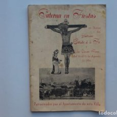 Coleccionismo de Revistas y Periódicos: PROGRAMA FIESTAS HONOR STMO. CRISTO DE LA FE Y SAN VICENTE FERRER, PATERNA 1954. Lote 153016426