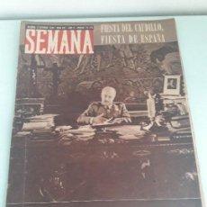 Coleccionismo de Revistas y Periódicos: REVISTA SEMANA - MADRID - OCTUBRE 1944 - NUM. 241- AÑO V - EL CAUDILLO - MILITAR. Lote 153074178