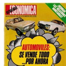 Coleccionismo de Revistas y Periódicos: ACTUALIDAD ECONOMICA - Nº 806 / 25 AGOSTO 1973. Lote 153096526