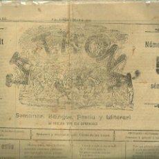 Coleccionismo de Revistas y Periódicos: 3894.- PRENSA VALENCIANA - TRONA SEMANARI BILINGUE FESTIU Y LLITERARI - VALENSIA. Lote 153225026