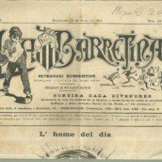 Coleccionismo de Revistas y Periódicos: 3894.- PREMSA CATALANA - LA BARRETINA SETMANARI HUMORISTICH - BARCELONA 14 DE MARS DE 1902. Lote 153225926