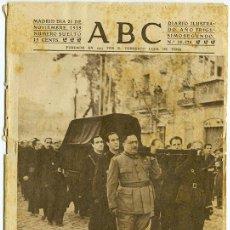 Coleccionismo de Revistas y Periódicos: ABC. AÑO 32, Nº 10.528. 21 NOVIEMBRE 1939. EL TRASLADO DE LOS RESTOS DE JOSÉ ANTONIO. Lote 153238622