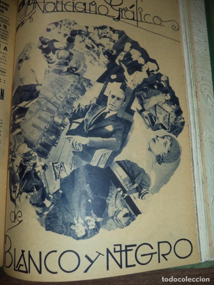 Coleccionismo de Revistas y Periódicos: REVISTA BLANCO Y NEGRO. 5 REVISTAS ENCUADERNADAS. AÑO 44. 1934. LEER. - Foto 5 - 153313078