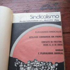 Coleccionismo de Revistas y Periódicos: REVISTA SINDICALISMO - COLECCION COMPLETA 1975-1977. Lote 153433122