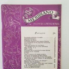 Coleccionismo de Revistas y Periódicos: REVISTA MERIDIANO. MARZO 1946. Lote 153434658