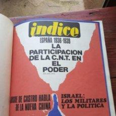 Coleccionismo de Revistas y Periódicos: REVISTA INDICE - AÑO COMPLETO 1970. Lote 153446562