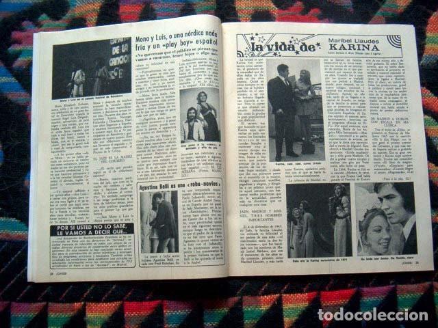 Coleccionismo de Revistas y Periódicos: Chiss / KARINA, SYDNE ROME, FOTONOVELA COMPLETA, BELMONDO, TARYN POWER, ATAHUALPA YUPANQUI - Foto 2 - 153537714