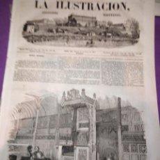 Coleccionismo de Revistas y Periódicos: 1854 LA ILUSTRACION PERIODICO UNIVERSAL ANALES GUERRA ORIENTE CAMARA DE LOS LORES INGLATERRA . Lote 153552262