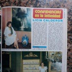 Coleccionismo de Revistas y Periódicos: LICIA CALDERON. Lote 153559394