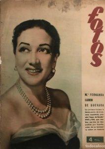 Portada revista Fotos. M.ª Fernanda Ladron de Guevara
