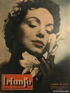 1953 Portada revista Triunfo. Carmen de Lirio