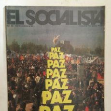 Coleccionismo de Revistas y Periódicos: EL SOCIALISTA, REVISTA FUNDADA POR PABLO IGLESIAS. Nº 232 NOVIEMBRE DE 1981. PAZ. CARRILLO. OTAN . . Lote 153637350