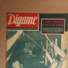 Coleccionismo de Revistas y Periódicos: REVISTA DIGAME, FESTIVAL CINE SAN SEBASTIAN, PLAZA MAYOR MADRID FILATELIA, UTRERITA, GALLOSO TOREROS. Lote 153956826