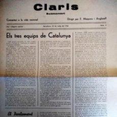 Coleccionismo de Revistas y Periódicos: REVISTA CLARIS,SEMANARI DE PUBLICACIO EVENTUAL 1936 N 2 MAIG. Lote 153980638