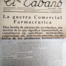 Coleccionismo de Revistas y Periódicos: EL TABANO LA GUERRA COMERCIAL FARMACEUTICA 1933 N 2. Lote 153980890