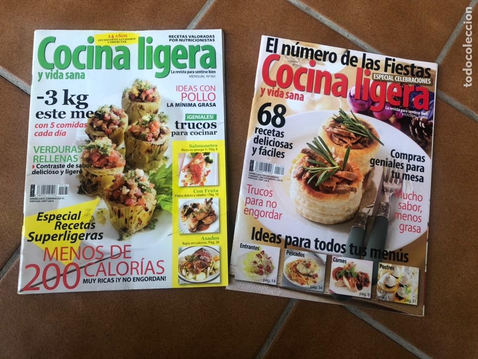 REVISTA COCINA LIGERA. NÚMEROS 160 Y 161 (Coleccionismo - Revistas y Periódicos Modernos (a partir de 1.940) - Otros)