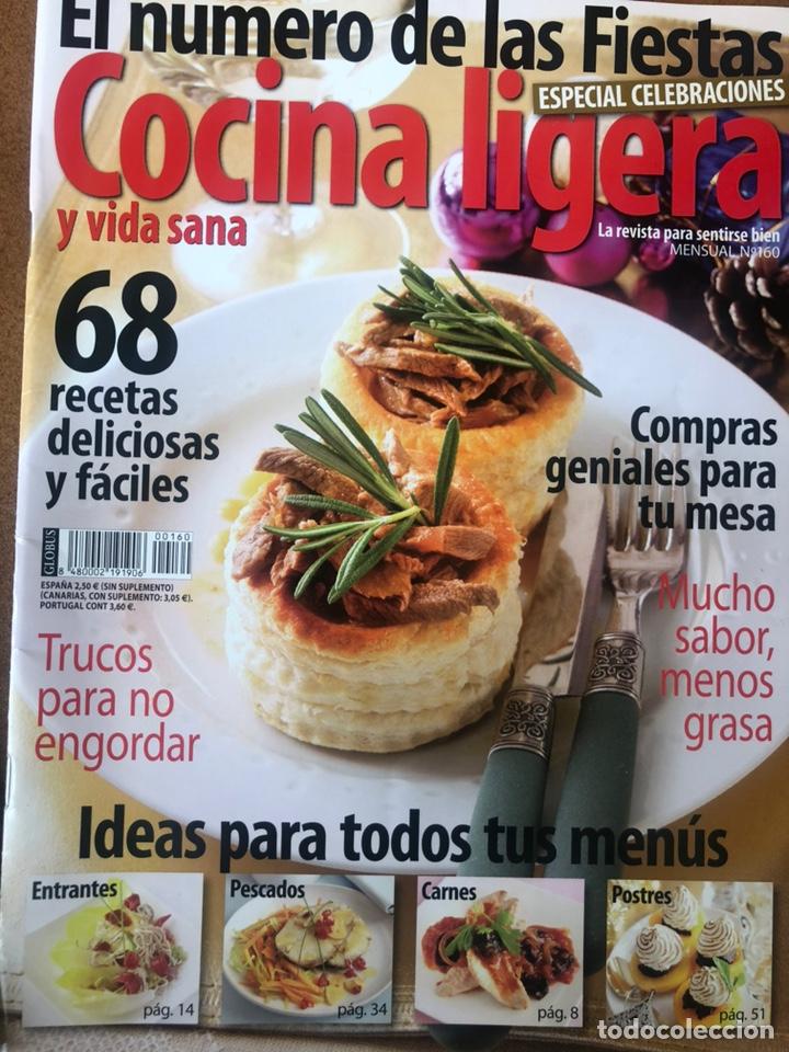 Coleccionismo de Revistas y Periódicos: REVISTA COCINA LIGERA. NÚMEROS 160 y 161 - Foto 2 - 153981432