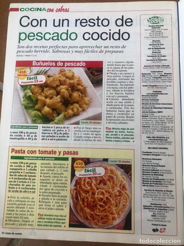 Coleccionismo de Revistas y Periódicos: LOTE REVISTA COSAS DE COCINA. NÚMEROS EXTRA - Foto 5 - 154043761