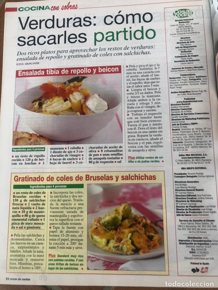 Coleccionismo de Revistas y Periódicos: LOTE REVISTA COSAS DE COCINA. NÚMEROS EXTRA - Foto 6 - 154043761