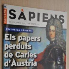 Coleccionismo de Revistas y Periódicos: REVISTA SAPIENS Nº 76, FEBRER 2009. Lote 154140166