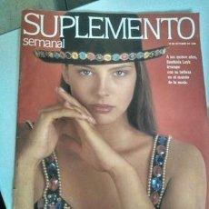 Coleccionismo de Revistas y Periódicos: REVISTA SUPLEMENTO SEMANAL 18/10/1992 ESTEFANÍA LUYK. Lote 154155534