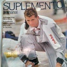 Coleccionismo de Revistas y Periódicos: SUPLEMENTO SEMANAL 12/1/1992 PRÍNCIPE FELIPE. Lote 154163082