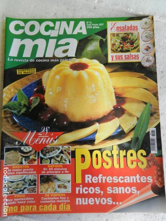 COCINA MIA REVISTA Nº 31 EXTRA VERANO 1997. POSTRES, ENSALADAS, MENÚS PARA COMBINAR..... (Coleccionismo - Revistas y Periódicos Modernos (a partir de 1.940) - Otros)
